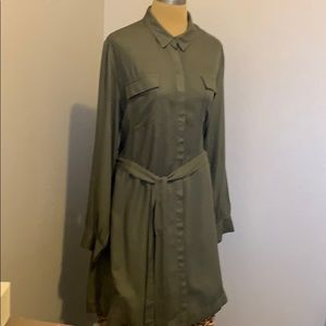 Dresses & Skirts - Olive green coat dress
